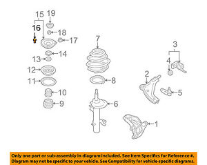 mini cooper suspension diagram 2005 ford explorer cd player wiring oem 07 15 front shock mount pin 31306778829 image is loading