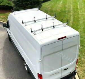 details about heavy duty 3 bar ladder roof rack fits ford transit cargo van high roof white