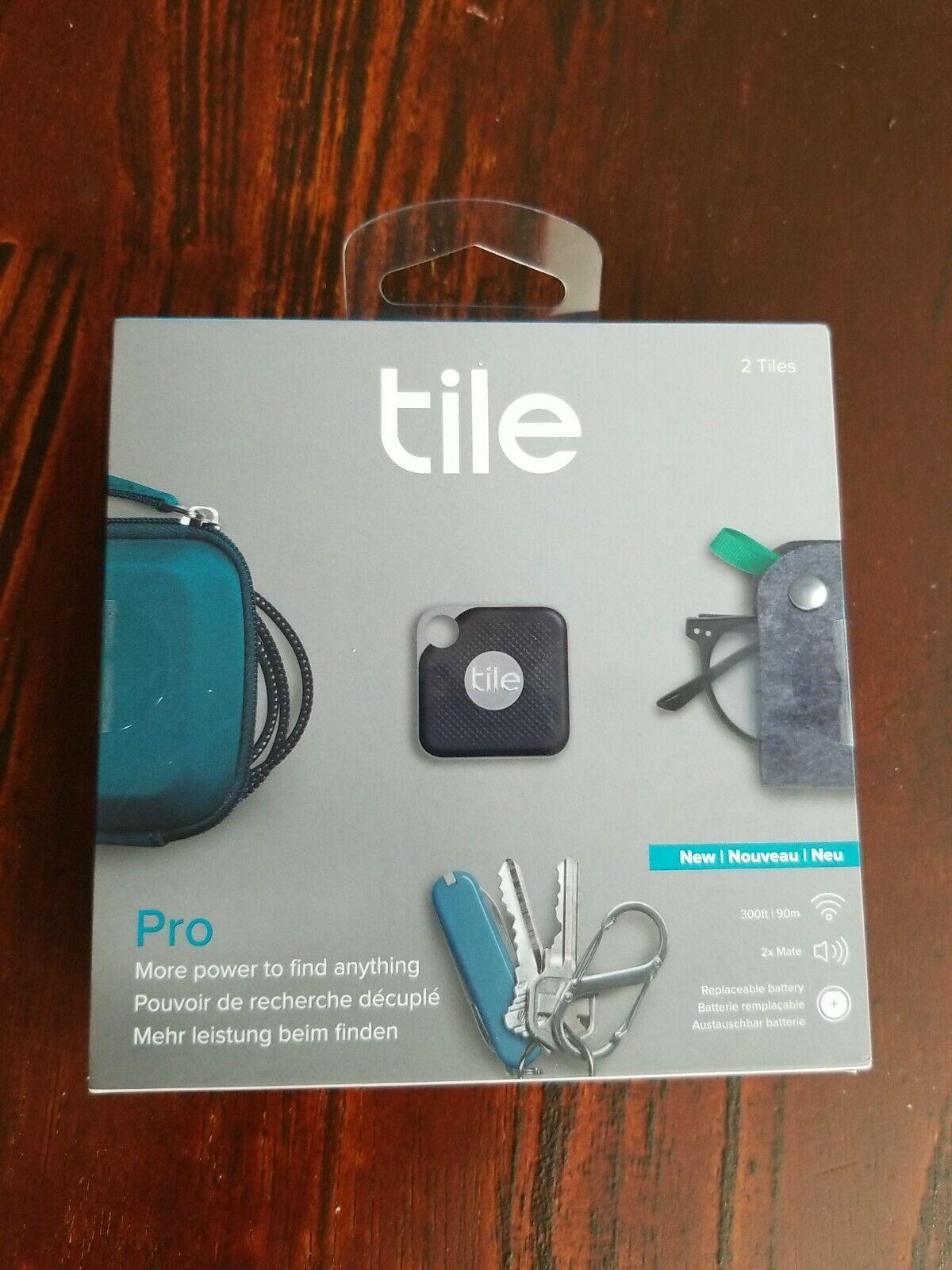 tile pro smart tracker 2 pieces black