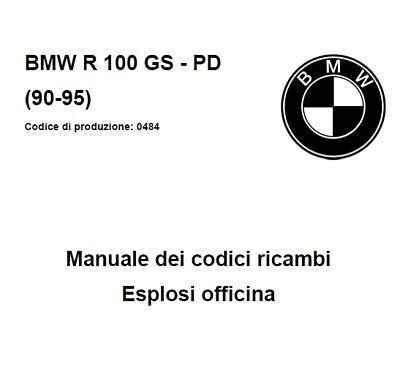 CD Manuale Codici Ricambi+Esplosi Officina BMW Moto R 100
