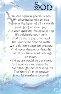 A DAD SON First Birthday In Heaven Bereavement Graveside