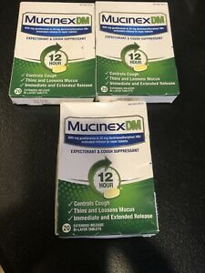 New 60 Tabs Of Mucinex DM 12 Hour-Tablets Expiration:11 ...