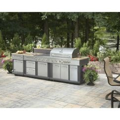 Outdoor Kitchen Bbq Pantry Shelving Huge Grill Sink Refrigerator Ice Box Image Is Loading