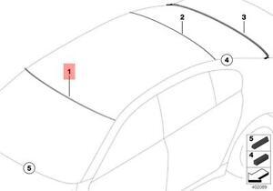 Genuine Windshield Upper Moulding Trim BMW 7 Series F01