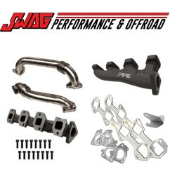 details about ppe race high flow exhaust manifolds with up pipes for twin turbos 01 15 6 6l [ 1500 x 1500 Pixel ]