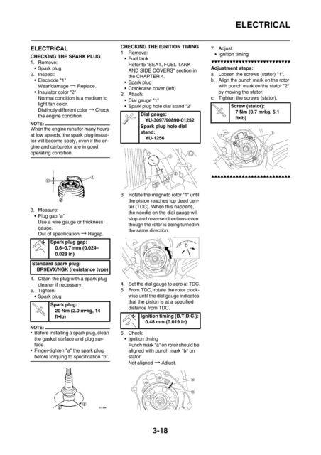 Yamaha YZ 125 X X1 2008 Owners Service Manual, FREE