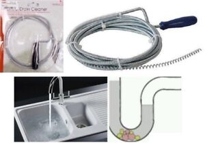 kitchen sink snake low cost modular 1m drain unblocker cleaner waste pipe plunger image is loading