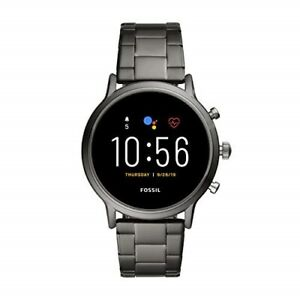 Fossil Gen 5 Carlyle HR Heart Rate Touchscreen Smartwatch, Smoke (FTW4024) Metal