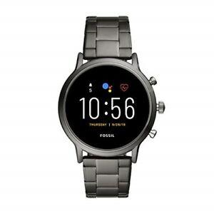 Fossil Gen 5 Carlyle HR Heart Rate Touchscreen Smartwatch, Smoke (FTW4024) Metal