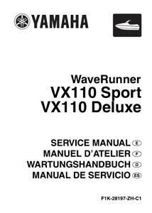 Service Manual for Yamaha WaveRunner VX110 Sport/VX110