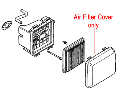 Genuine Honda LAWNMOWER GCV135 Air Filter Cover 17231-ZM0