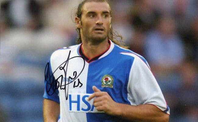 Lorenzo Amoruso Blackburn Rovers Signed 12x8 Inch Photo