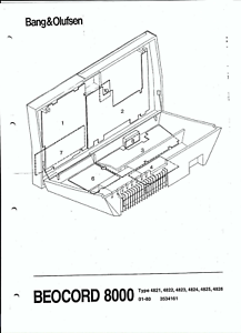 B & O Bang & Olufsen Service Manual for Beocord 8000 types