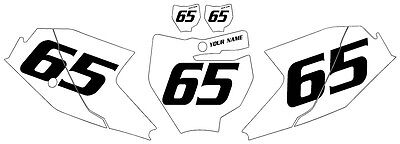Fits KTM 65 SX 2016-2020 Pre-Printed White Backgrounds