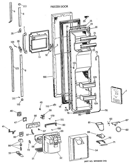 OEM GE WR55X10015 WR55X0110 Refrigerator Control AP2071660