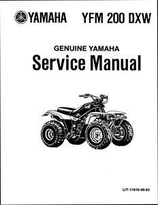 Yamaha YFM 200 DXW Moto-4 1983 1984 1985 1986 Service