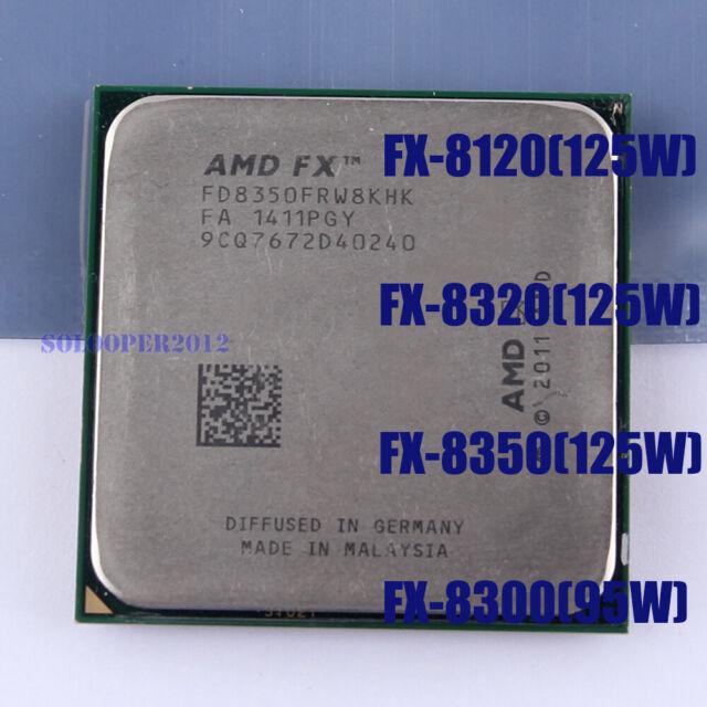 AMD FX-8120 FX-8300 FX-8320 FX-8350 CPU 8M Eight-Core Socket AM3+ Processor   eBay
