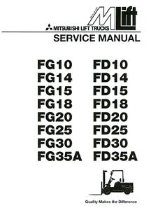 BEST Mitsubishi Forklift FG30 FD30 FG35A FD35A SERVICE