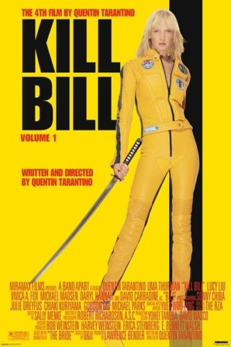 Kill-Bill-Tarantino-Uma-Thurman-movie-poster-BRAND-NEW-never-hung