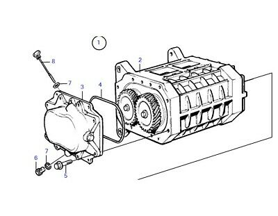 OEM Volvo Penta KAD 32 43 44 300 KAMD Supercharger