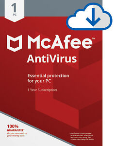 McAfee AntiVirus Plus 2019 -1 PC -1 year /2/3/4 years Subscription Download