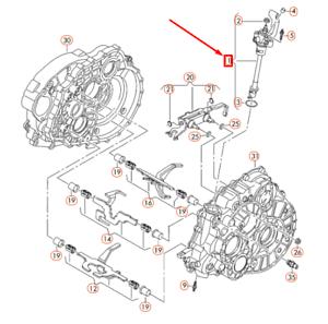 VOLKSWAGEN TRANSPORTER T5 Manual Shift Rod Selector Fork