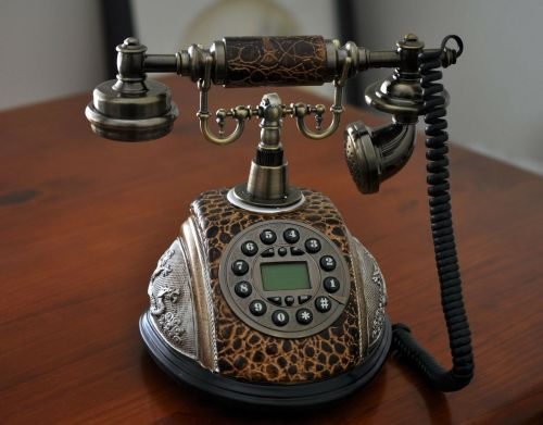 small resolution of brown antique phone vintage retro dial classic old fashioned lcd telephone home