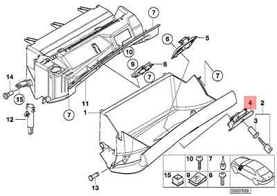 Genuine Glove Box Lock Lower Part BMW M3 X3 X5 E39 E46 E53
