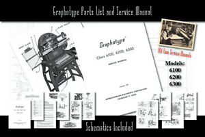 Graphotype 6100, 6200, 6300 Owners Service Manual Parts