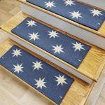 Blue Stars Stair Tread Set Of 13 Non Slip Carpet Treads 27 X 9 Rug Depot For Sale Online
