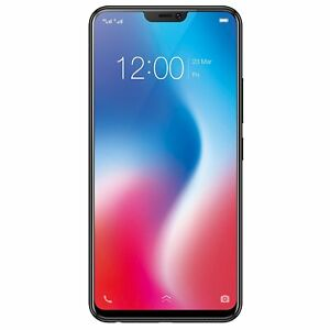 "NEW Vivo V9 (Black, 64GB) 4GB RAM (4G) 6.3"" 16+5MP dual primary camera SHIP DHL"