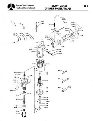 Delta Rockwell No. 43-502, 43-503 Overarm Router/Shaper