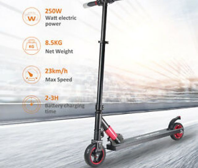 Image Is Loading Megawheels Folding Electric Scooter W Aluminum Portable Red