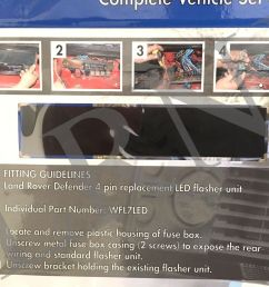 land rover defender britpart wipac led upgrade lamps kit 73 mm led style da1192 for sale online ebay [ 1600 x 1200 Pixel ]