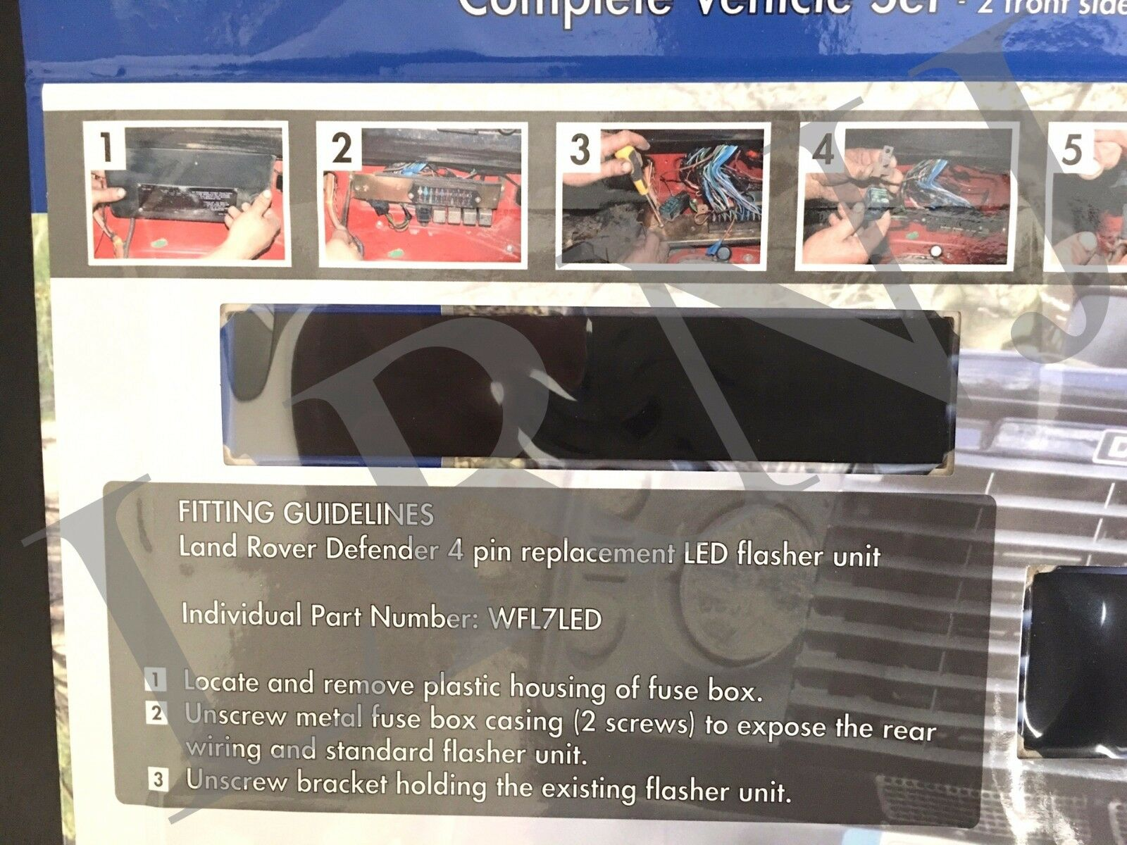 hight resolution of land rover defender britpart wipac led upgrade lamps kit 73 mm led style da1192 for sale online ebay
