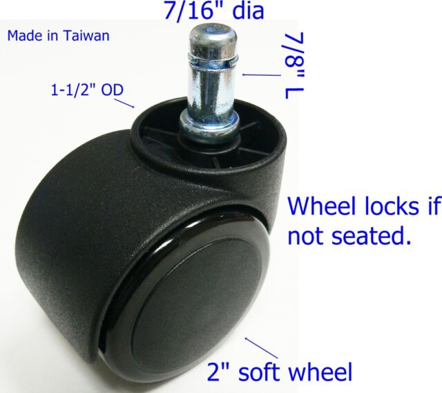 chair casters for hardwood floors cover hire northampton oajen 2 soft wheel caster floor auto lock 5 pcs