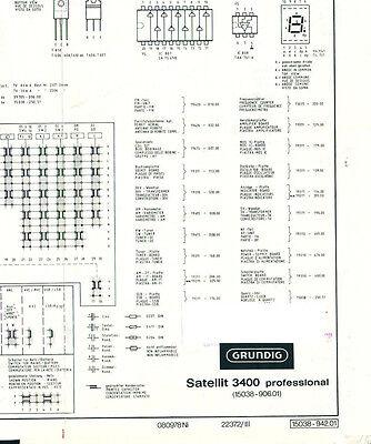 Service Manual GRUNDIG Satellit 3400 Professional Circuit