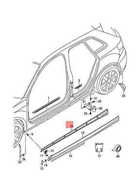 Genuine Securing Strip Right AUDI A3 S3 Sportback Lim