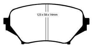 EBC For 06-15 Mazda Miata MX5 2.0 Yellowstuff Front Brake