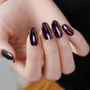 purple color effect mirror chrome