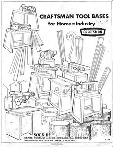 1972 Craftsman Power Tool Stands-Pyramid & Universal