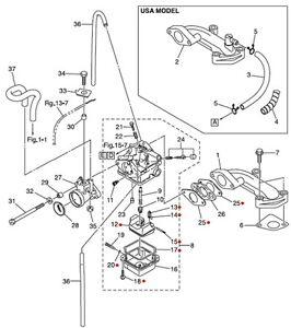 3GT871220M Nissan & Tohatsu Marine Carburetor Repair Kit