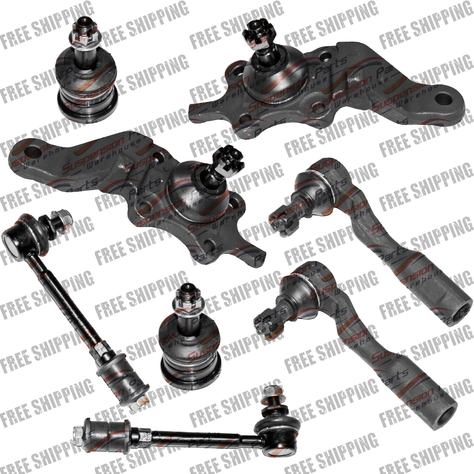 New Front Suspension Repair Kit Ball Joints Tie Rods