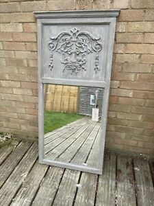 Touch device users can explore by touch or with swipe gestures. New Pour La Maison Vintage French Style Shabby Chic Trumeau Grey Wood Mirror Ebay