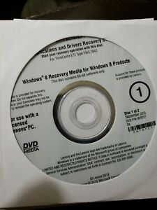 Lenovo Operating System Recovery Disc Windows 8 recovery media drivers DVD   eBay