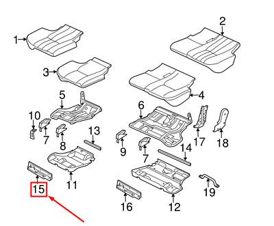 NEW LR RANGE ROVER L322 REAR RIGHT SEAT TRIM PANEL BEZEL