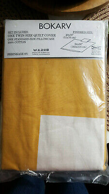 Ikea Duvet Sizes : duvet, sizes, Quilt, Cover/Duvet, BOKARV, Yellow/Gold, White, Cotton,, 64