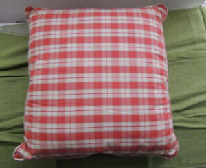 details about the pillow country plaid decorative throw pillow filled no zipper 18 x18 inch