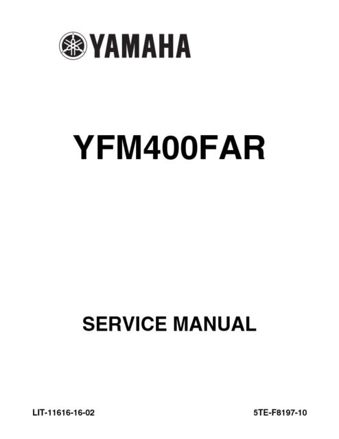 New Yamaha YFM400 FAR Kodiak 2003 2004 Repair Service