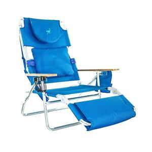 reclining beach chairs high back chair cushions ostrich deluxe padded 3 n 1 outdoor lounge image is loading